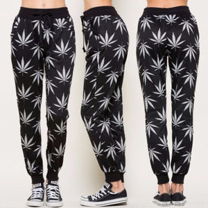 Pants - LAST Marijuana Print Clothes Marijuana Sweat pant
